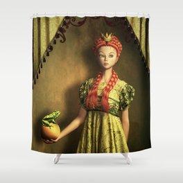 Frog Prince Fairytale Shower Curtain