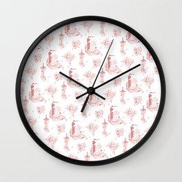 Gryffindor Toile Wall Clock