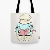 psychology Tote Bags featuring Foot Psychology by Maria Alliaud