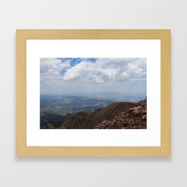 Hidden at the Top of Pike's Peak Framed Art Print