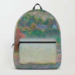 Two Haystacks by Claude Monet Backpack