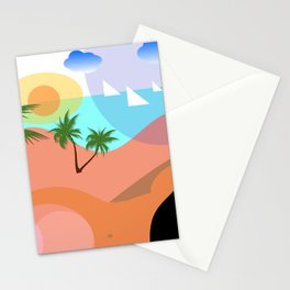 Leila is watching the hurricane coming Stationery Cards