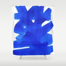 Superwatercolor Blue Shower Curtain