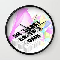 joy division Wall Clocks featuring Joy or Division? by minnie's got a girlfriend