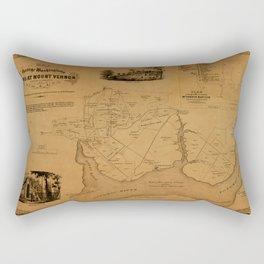 Map Of Mount Vernon 1859 Rectangular Pillow