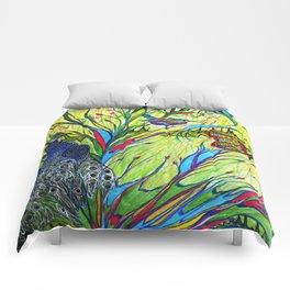 Peacock In Dreamland Comforters