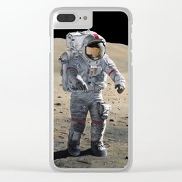 The Last Man on the Moon Clear iPhone Case