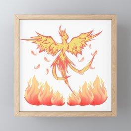 Phoenix, Firebird, Fantasy Framed Mini Art Print