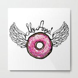 Doughnut Angel Metal Print