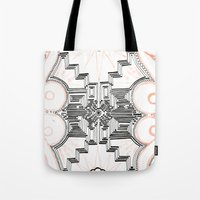 gatsby Tote Bags featuring Gatsby Mandala by HRE.