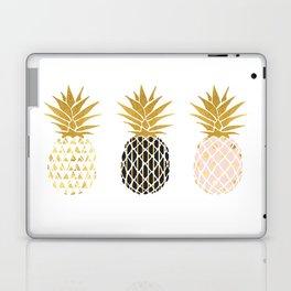 fun pineapple design gold Laptop & iPad Skin