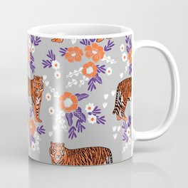 Tigers orange and purple clemson football varsity university college sports fan gifts Coffee Mug