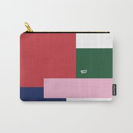 POP ART RED BLUE PINK AND GREEN #minimal #art #design #kirovair #buyart #decor #home Carry-All Pouch
