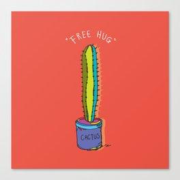 free hug cactus Canvas Print