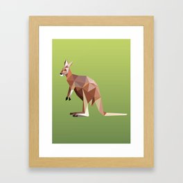 Geometric Kangaroo Framed Art Print