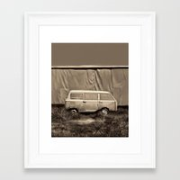 van Framed Art Prints featuring Van by Bekim ART