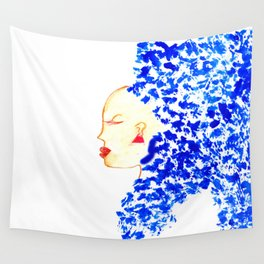 Blue Cleopatra Wall Tapestry