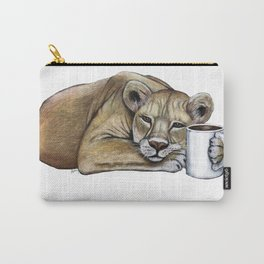 """""""Lazy Lioness"""" - Java Jungle collection Carry-All Pouch"""