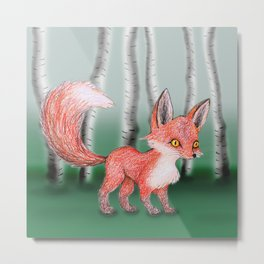 Cute fox Metal Print