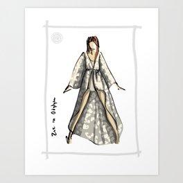 Zoe in Odylyne Art Print