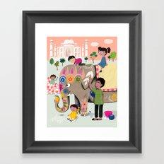 India Framed Art Print