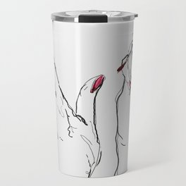 Pink Nails Travel Mug