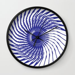 Blue Flower Design | Brush Stroke Wall Clock