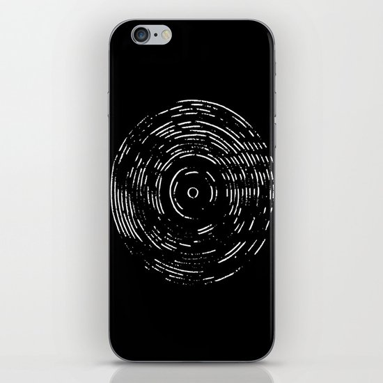 Record White on Black iPhone & iPod Skin