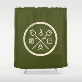 S'mores Society Shower Curtain