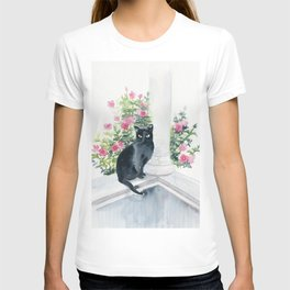 Guard Cat On Duty T-shirt