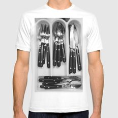 Silverware. Mens Fitted Tee White MEDIUM