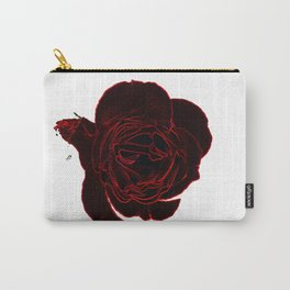 Fake Rose Carry-All Pouch