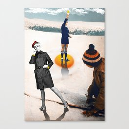 Yellow card. Canvas Print