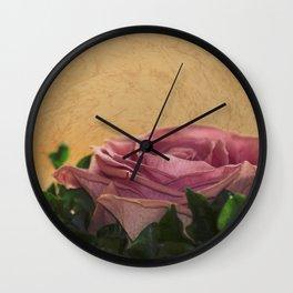 rosea rosa sine aqua Wall Clock