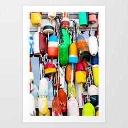 Lobster Buoys Art Print