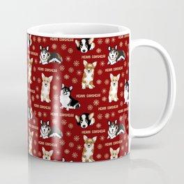 Merry Corgmess- Little Corgi Dogs Celebrate Christmas Coffee Mug