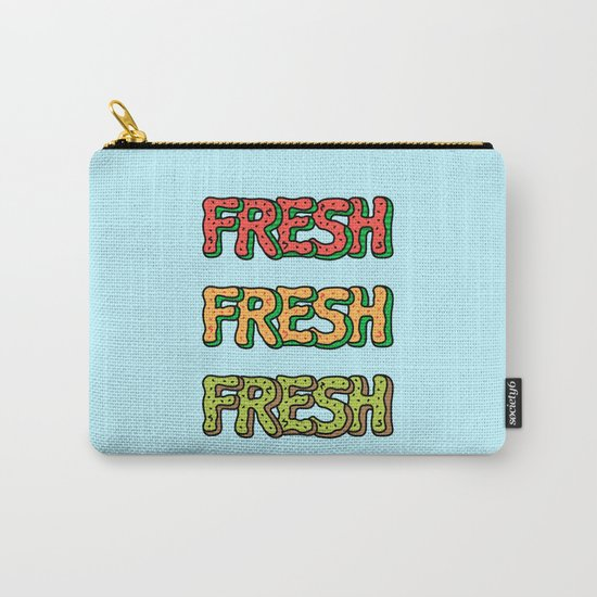 Fresh Watermelon, Cantaloupe Melon, Kiwi Carry-All Pouch