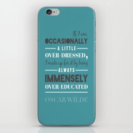 Oscar Wilde - poster iPhone Skin