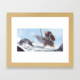 Polar warrior Framed Art Print