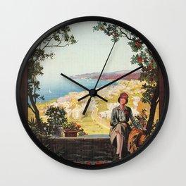 Varazze Italy 1920s Wall Clock