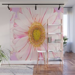 Pink flower with pink background - lovely girlish summer feeling Wall Mural