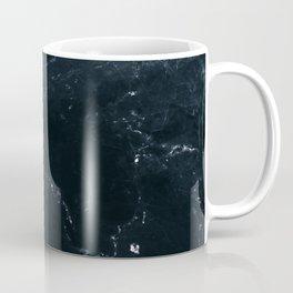 Dark Ocean Navy Marble Coffee Mug