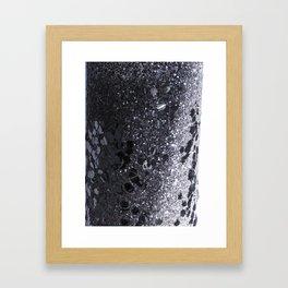 Black and Gray Glitter Bomb Framed Art Print