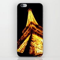 eiffel tower iPhone & iPod Skins featuring Eiffel Tower by Fimbis