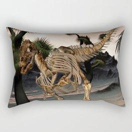 Awesome t-rex skeleton Rectangular Pillow