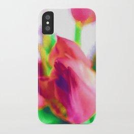 Harborough Tulips - Watercolour Paiting iPhone Case
