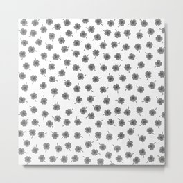 Light Gray Clover Metal Print