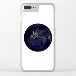 Earth Globe Lights Clear iPhone Case