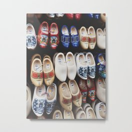 Little Wooden Shoes Metal Print