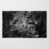 houston Area & Throw Rugs featuring Houston map by Line Line Lines